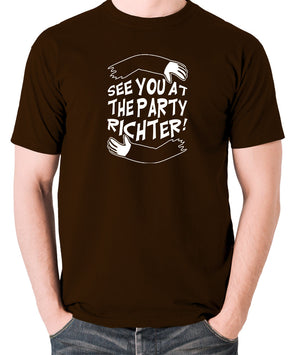 Total Recall - See You at the Party Richter - Men's T Shirt - chocolate