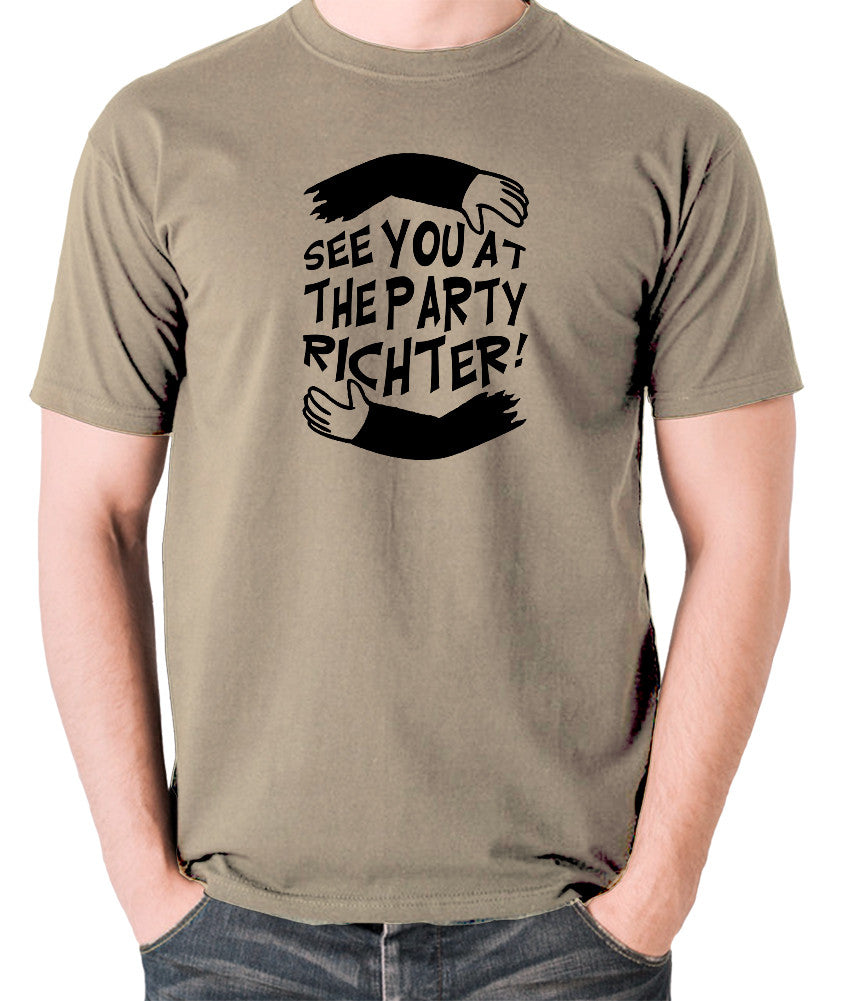Total Recall - See You at the Party Richter - Men's T Shirt - khaki