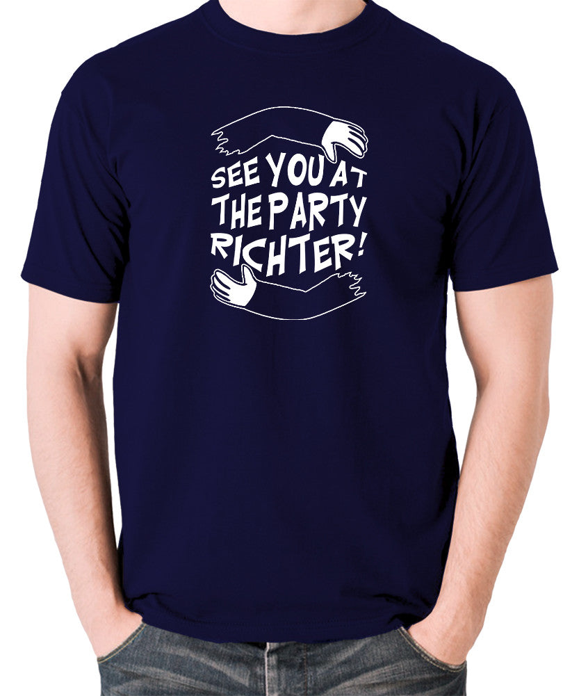 Total Recall - See You at the Party Richter - Men's T Shirt - navy