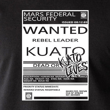 Total Recall - Wanted Poster, Kuato Lives - Men's T Shirt
