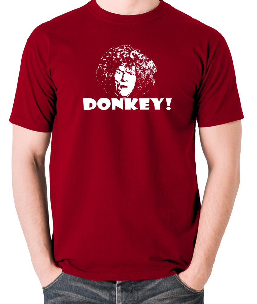 The Smell of Reeves and Mortimer - Uncle Peter, Donkey - Men's T Shirt - brick red