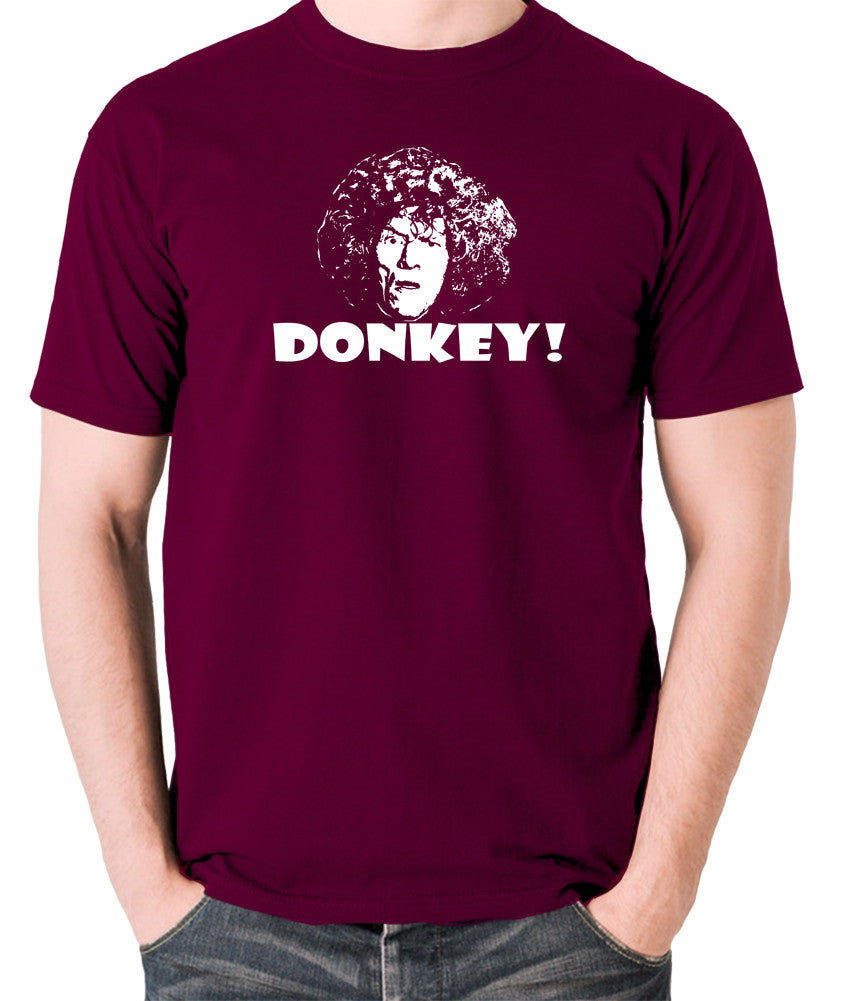 The Smell of Reeves and Mortimer - Uncle Peter, Donkey - Men's T Shirt - burgundy