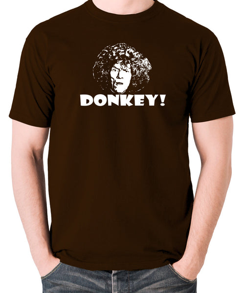 The Smell of Reeves and Mortimer - Uncle Peter, Donkey - Men's T Shirt - chocolate