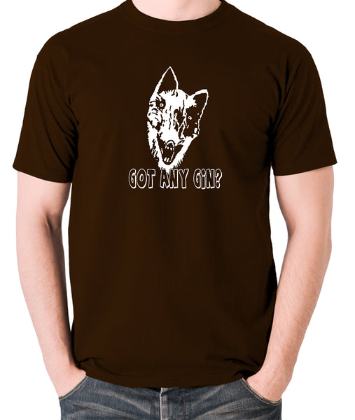 Shooting Stars - Donald Cox, Got Any Gin - Mens T Shirt - chocolate