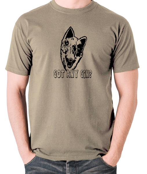 Shooting Stars - Donald Cox, Got Any Gin - Mens T Shirt - khaki