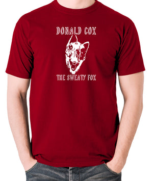 Shooting Stars - Donald Cox The Sweaty Fox - Mens T Shirt - brick red