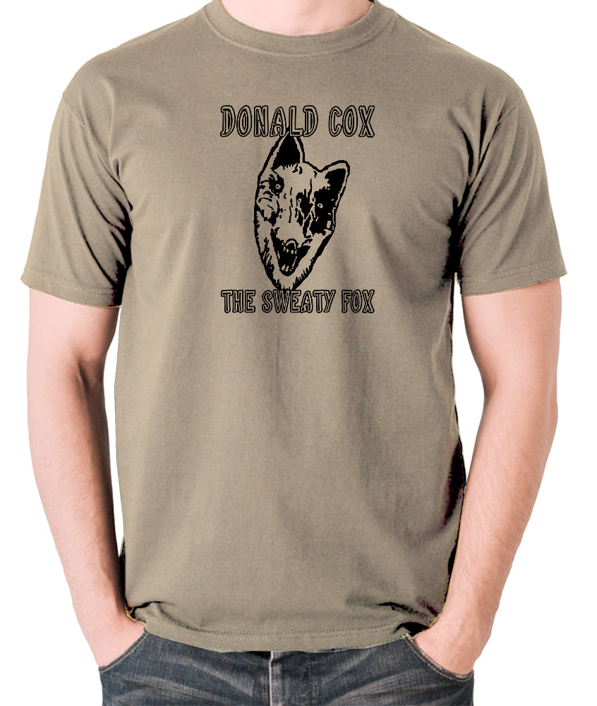 Shooting Stars - Donald Cox The Sweaty Fox - Mens T Shirt - khaki