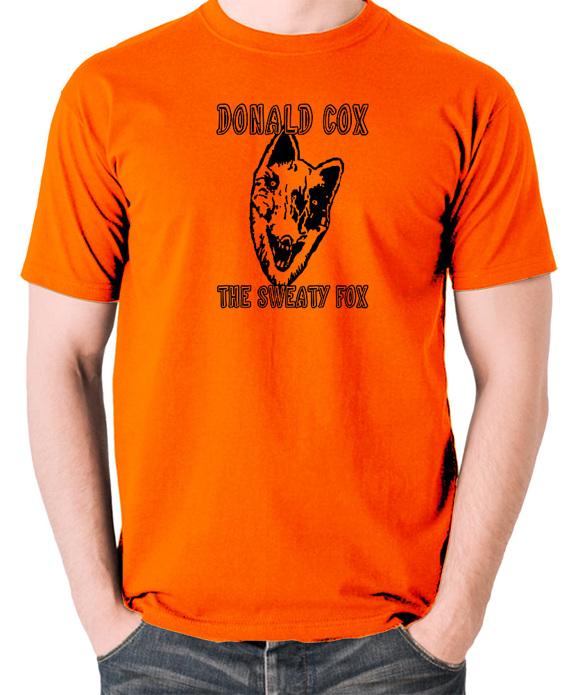 Shooting Stars - Donald Cox The Sweaty Fox - Mens T Shirt - orange