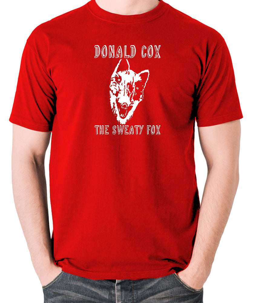 Shooting Stars - Donald Cox The Sweaty Fox - Mens T Shirt - red