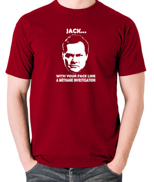 Shooting Stars - Jack Dee, Methane Investigation - Men's T Shirt - brick red