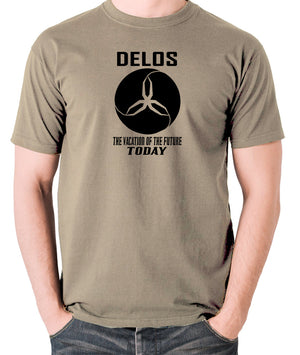 Westworld - Delos,  The Vacation Of The Future Today - Men's T Shirt - khaki