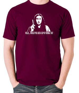 The Young Ones Herbal Tea T Shirt burgundy