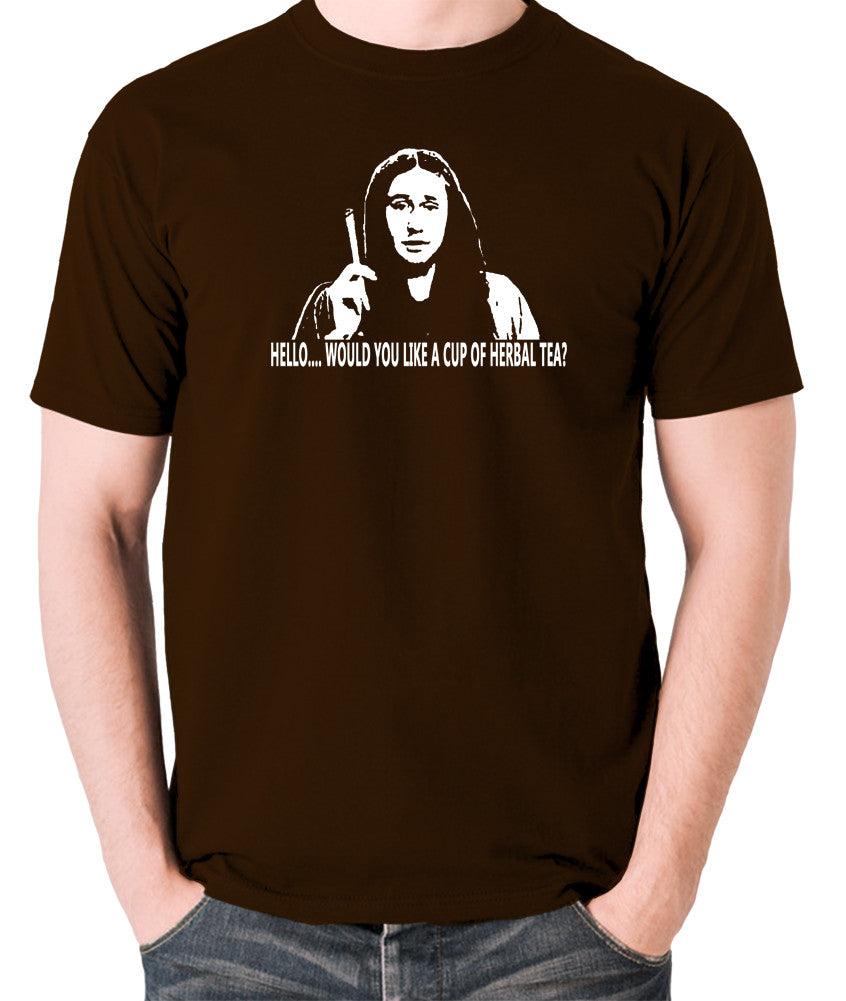 The Young Ones Herbal Tea T Shirt chocolate