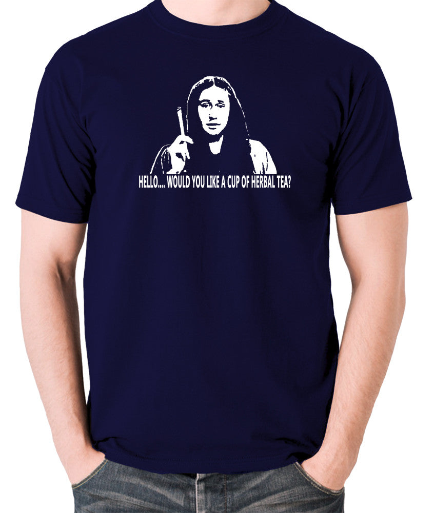 The Young Ones Herbal Tea T Shirt navy