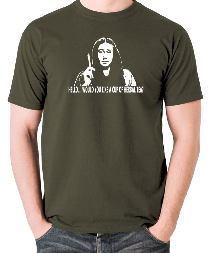 The Young Ones Herbal Tea T Shirt olive