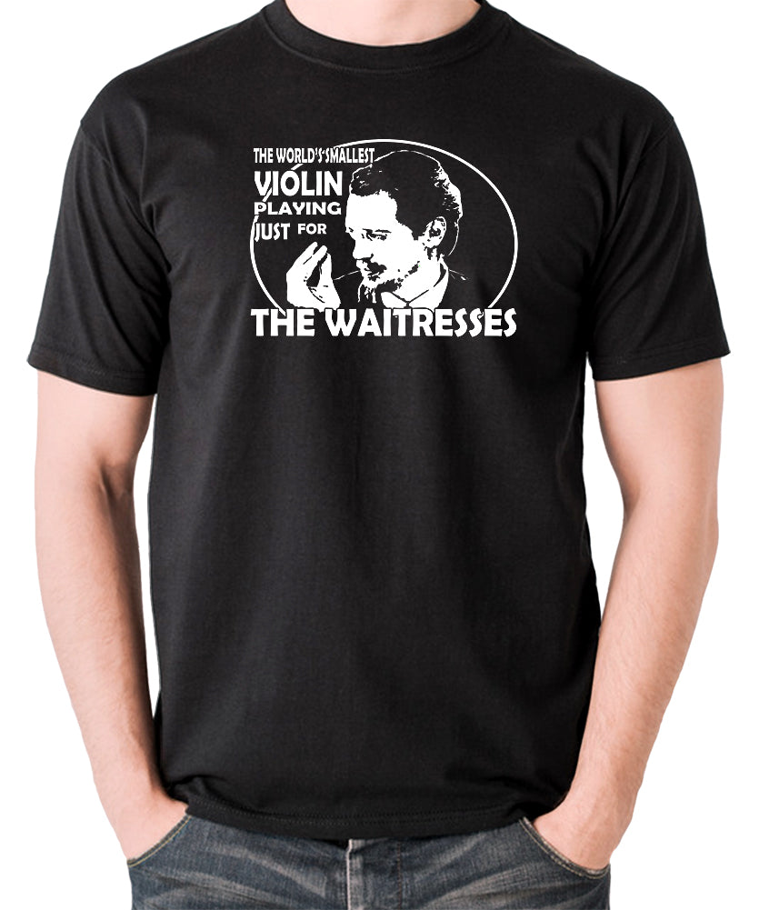 Reservoir Dogs - Mr Pink, The Worlds Smallest Violin Playing Just for the Waitresses - Men's T Shirt - black