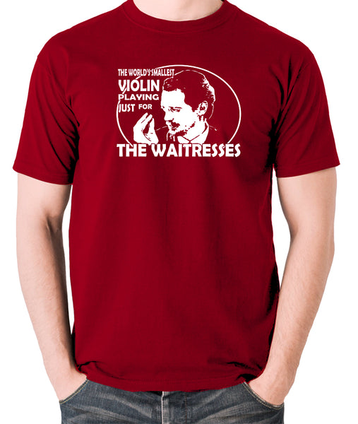 Reservoir Dogs - Mr Pink, The Worlds Smallest Violin Playing Just for the Waitresses - Men's T Shirt - brick red