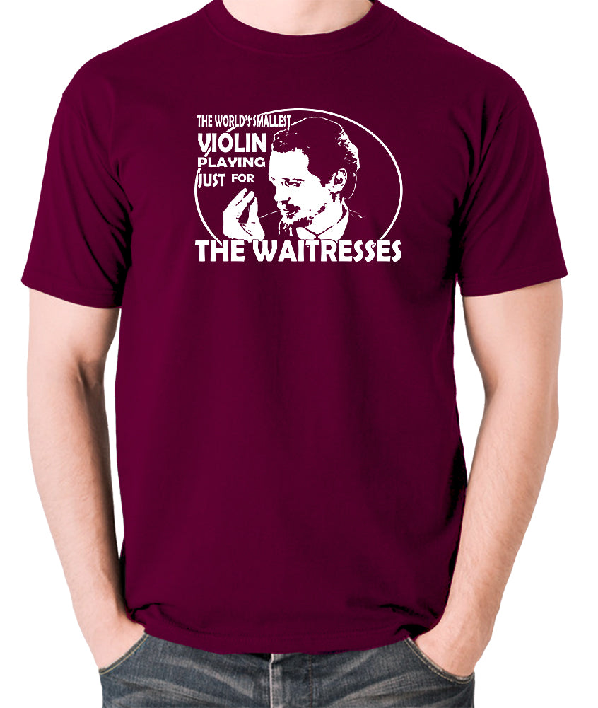 Reservoir Dogs - Mr Pink, The Worlds Smallest Violin Playing Just for the Waitresses - Men's T Shirt - burgundy