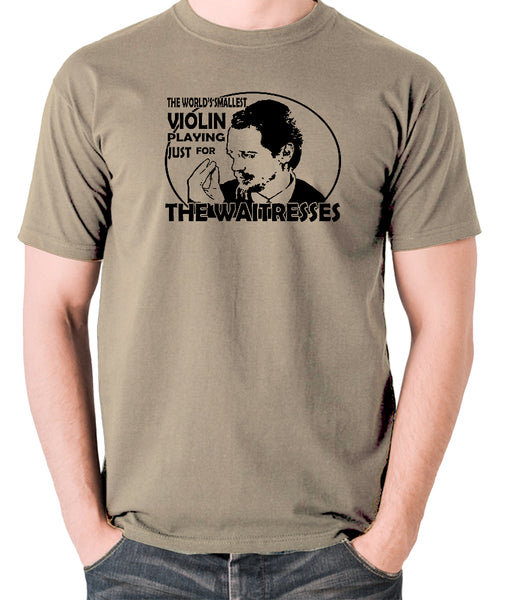 Reservoir Dogs - Mr Pink, The Worlds Smallest Violin Playing Just for the Waitresses - Men's T Shirt - khaki