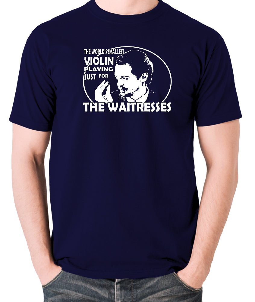 Reservoir Dogs - Mr Pink, The Worlds Smallest Violin Playing Just for the Waitresses - Men's T Shirt - navy