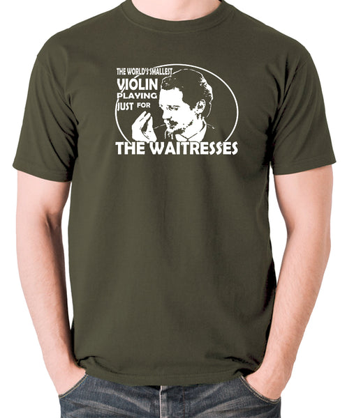 Reservoir Dogs - Mr Pink, The Worlds Smallest Violin Playing Just for the Waitresses - Men's T Shirt - olive