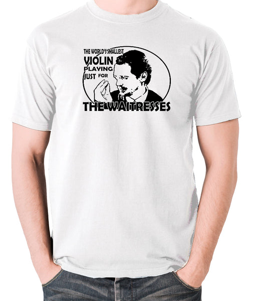Reservoir Dogs - Mr Pink, The Worlds Smallest Violin Playing Just for the Waitresses - Men's T Shirt - white