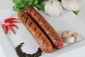 "Sausage, Halal Beef Spicy, 8"", 3pc/lb"