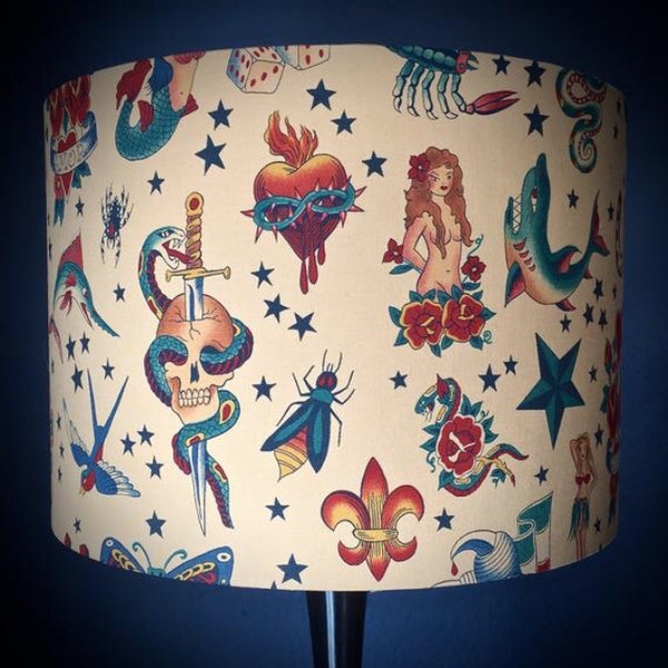 Tattoo flash lampshade