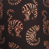 Black lampshade with metallic copper cat design