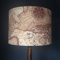 Antique map design lampshade