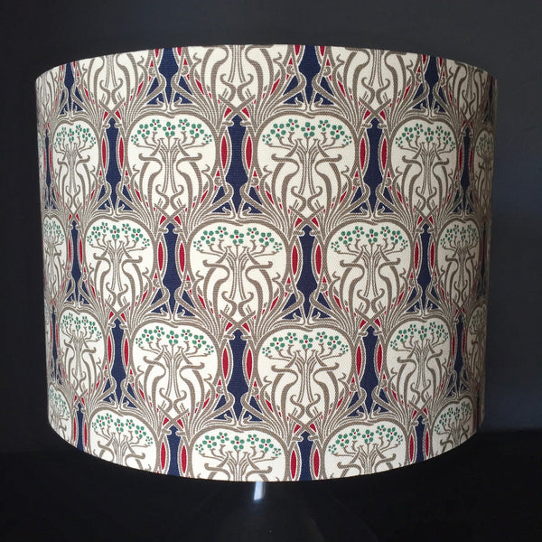 Lampshade with William Morris-style pattern