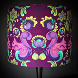 Purple squirrel handmade lampshade