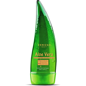 Cenizas 99% Pure Paraben Free Aloe Vera Gel Multipurpose for Skin and Hair, 130ml