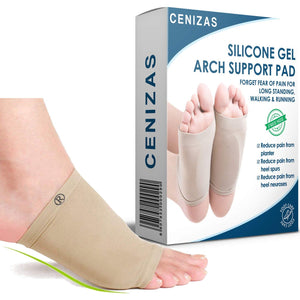 Cenizas Unisex Flat Arch Support Socks Sleeves Pad - For Foot Pain Relief/For Flat Feet