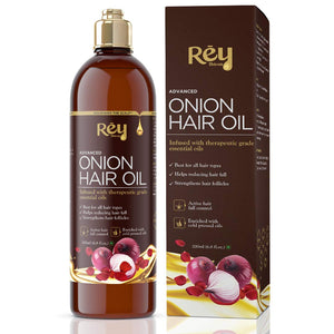 Rey Naturals hair oils combo (Castor oil + Coconut oil + Onion oil) controls hairfall - For healthy hair - No Mineral Oil, Silicones & Synthetic Fragrance