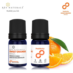 Rey Naturals Pure & Natural Therapeutic Grade Aroma Essential Oils,Set of 6 :- Peppermint, Sweet Orange, Eucalyptus, Lemongrass, Lavender And Geranium