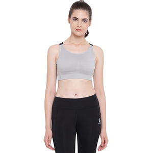 Two Dots Women's Spandex, Nylon & Cotton Lightly Padded Non-Wired Sports Bra
