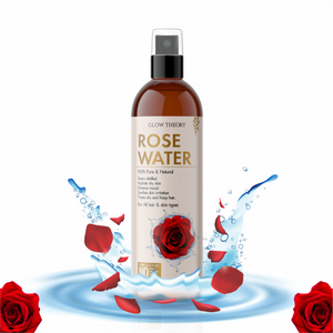 GLOW THEORY Pure & Natural Rose Water/Skin Toner - 200ml - Steam Distilled - Gulab Jal - Chemical Free