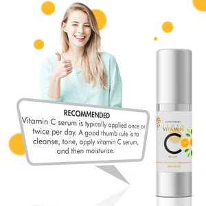 GLOW THEORY Premium Vitamin C Facial Serum for glowing skin - Anti Wrinkle & Anti Ageing with Skin Brightening Formula - 30 ML