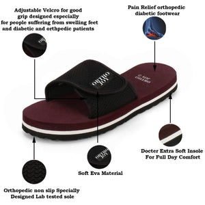 ORTHO JOY Extra Soft Men's Doctor Ortho Slippers/Flip-Flops