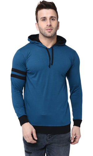 Cenizas Men's Cotton Hooded Full Sleeves T-Shirt