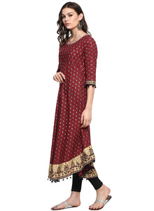 Cenizas Women's Cotton Layered & Tiered Kurta