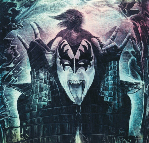 Official 'Parlor Merch/ Gene Simmons Firestarter 16x20 giclee canvas stretched print.