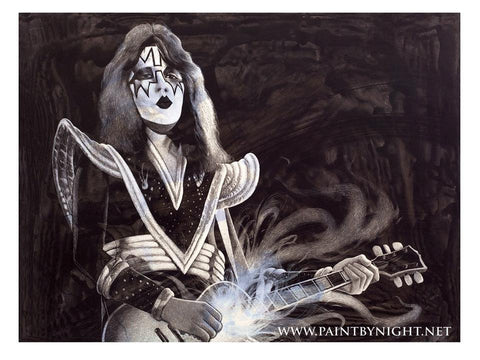 Ace Frehley/ Kiss On Stage 1976 Art Print