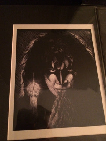 Official 'Parlor Merch Gene Simmons Demon Matted/Signed/Numbered