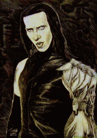 Marilyn Manson 11X14 Matted Print Edition of 30