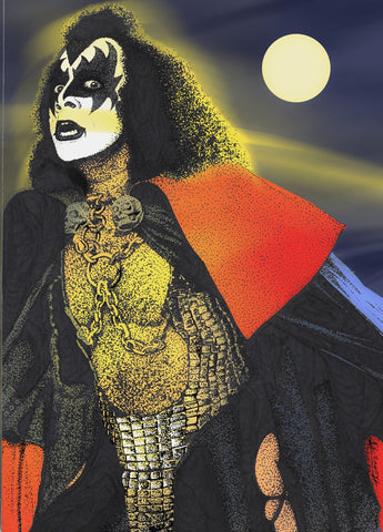 Kiss/Gene Simmons Demon Night 11x14 Matted Print Signed