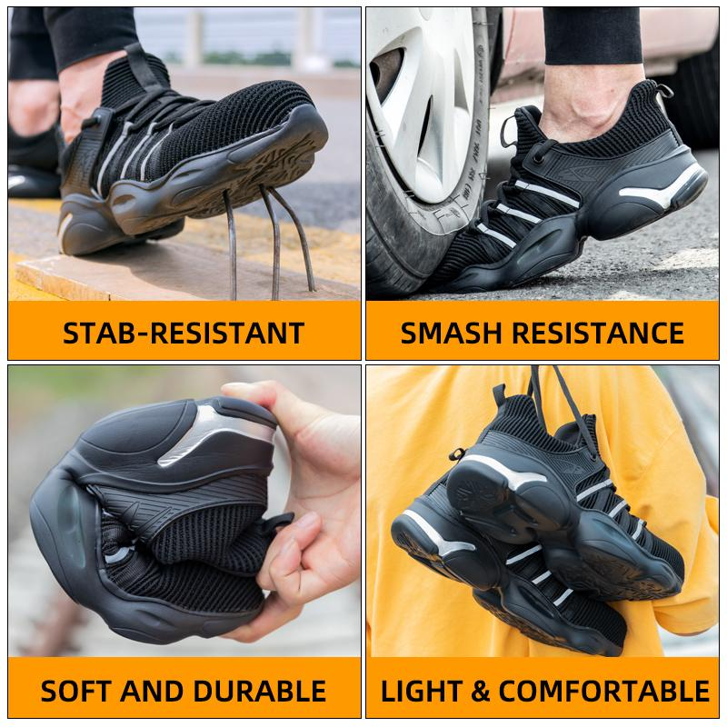 Hercshoes 810 men's Breathable labor insurance work safety shoes