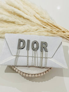 Evening envelope clutch bag