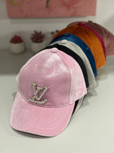 Load image into Gallery viewer, Stylish Velvet  LV Pink cap